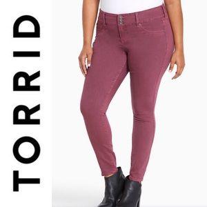 Torrid Purple Wash Three Button Jegging Pants